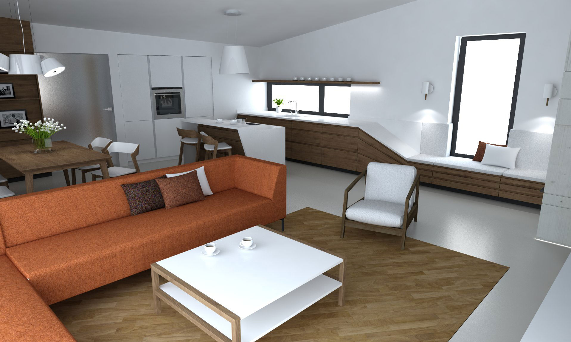 Interiér Lietava, variantné farebné riešenie