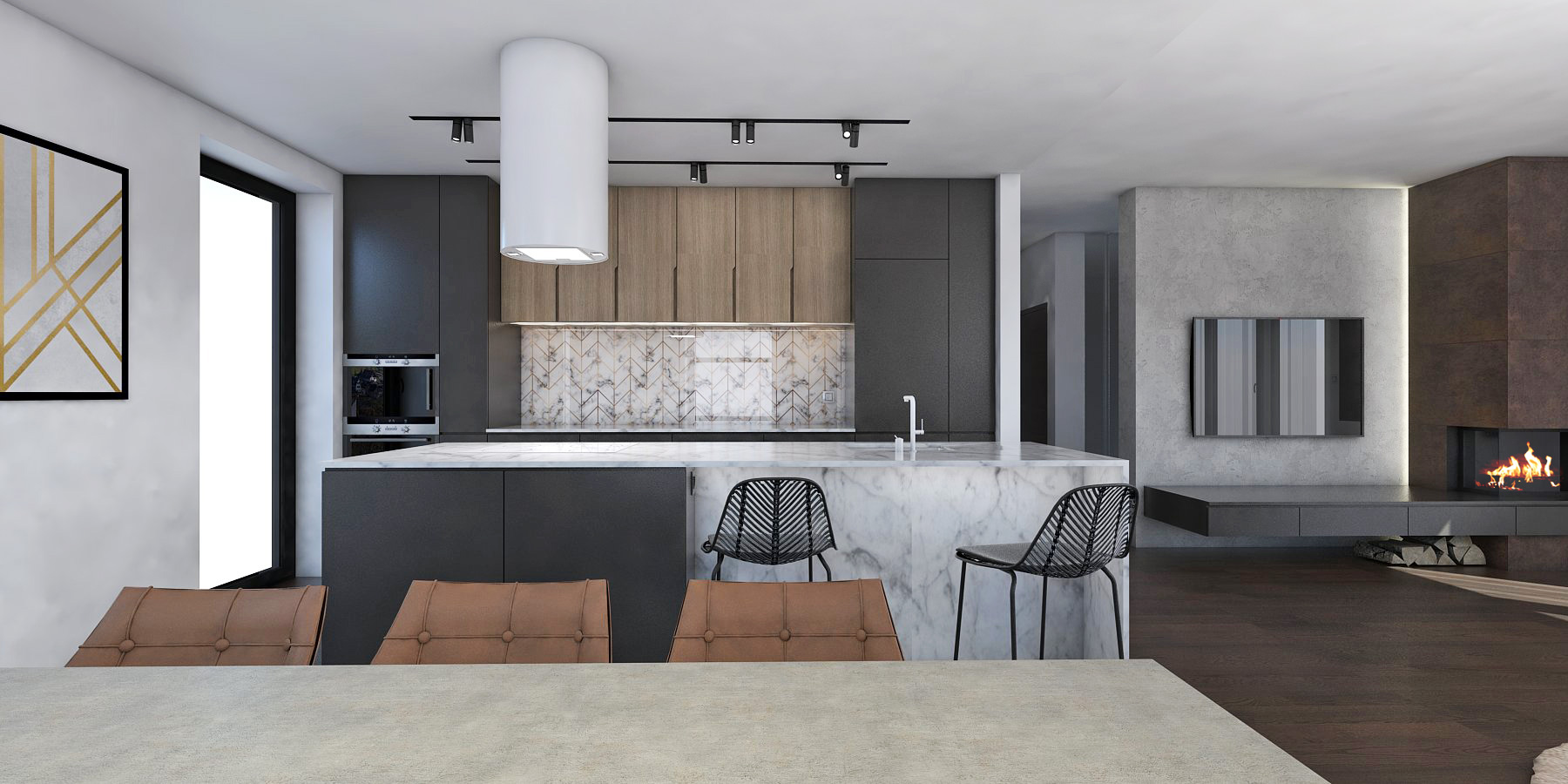návrh interiéru domu na komplet
