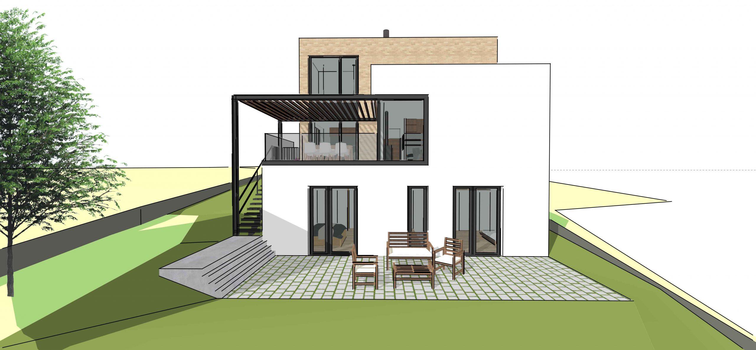 trojpodlažný rodinný dom vo svahu